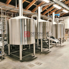 2000L commercial automated steel beer brewing equipment for brewpub
