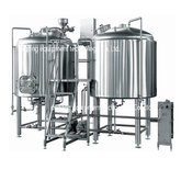 7BBL Stainless Steel Beer Brewery System Craft Brewhouse Equipment with Steam Heating