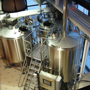 1000L 2 Or 3 Vessel Brewhouse Commercial Used Beer Production Equipment