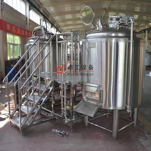 1000L Sanitary Stainless Steel 304 Insulated Double Layer Steam Heated Commercial Brewery Equipment with 3mm Material