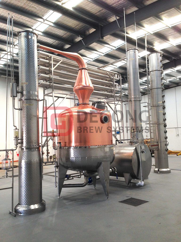 VodkaLight, in Gaitneau, Quebec, Canada has an DEGONG 2,000-liter, 2-column pot still, as well as a Distillery Mash Tun with grist case, fermentation, blending, and storage vessels