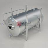 20BBL insulated stainless steel horizontal Beer Brite/ Serving Tank for beer brew pub