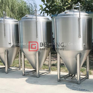 10HL Cooling Jacket Stainless Steel CCT Fermentation Tank BBT brite beer tank Brewing System Beer Production Line France