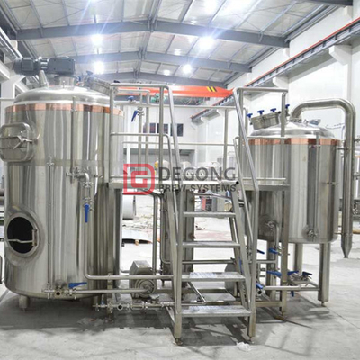 1500L industrial automated craft beer brewing equipment for sale in Denmark