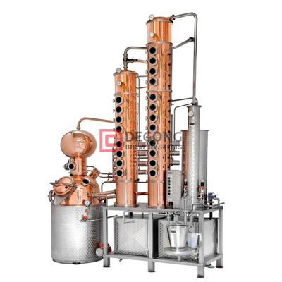 300L Copper Whisky Vodka still Distillation Equipment Column Price Brewery Plant