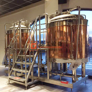 sus304/316 or red copper food grade brewery equipment 10hl larger brewhouse system brewing kettle