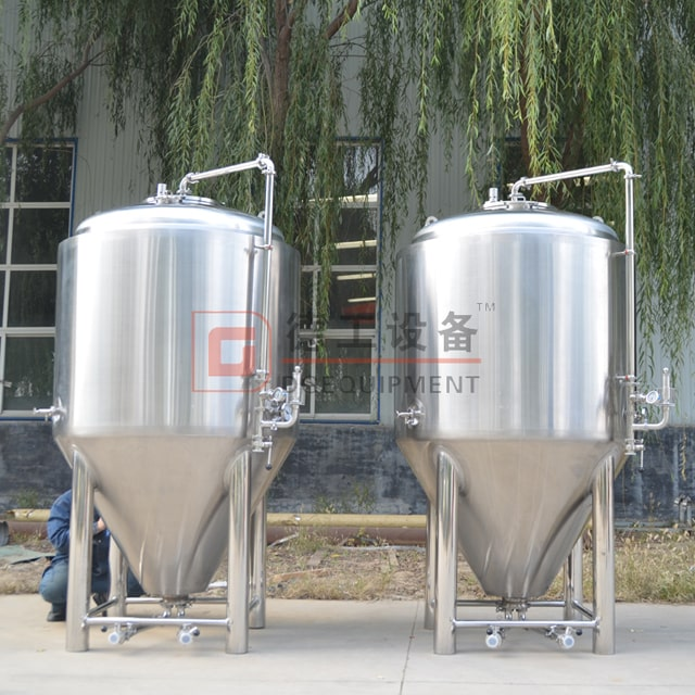 500L 1000L 2000L Beer Conical Fermenter Fermenting Tank Turnkey Brewing Equipment Project For Sale