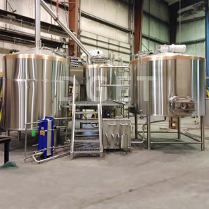Turnkey Project Of Brewery 1000L 10BBL 10HL Beer Production Line Beer Brewing System for Sale