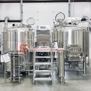 600L/1200L/1500L/3000L Commercial Beer Brewhouse for Brewery Equipment with 2-veseel 3-vessel 4-vessel Craft Mash System for Sale