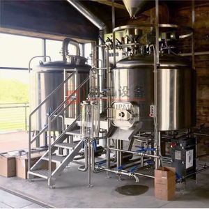 500L 1000L Long Life Pub Restaurant 2 Vessel Craft Beer Brewing Equipment Small Brewery Equipment with Mirror Polishing