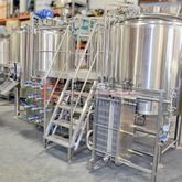 1000L Commercial Used Brewery Equipment Steam Heated Beer Brewhouse SUS304/316 Conical Fermentation Tank