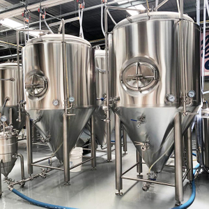 Commercial Brewery Used Superior 2000L Stainless Steel Jacket Conical Pressure Beer Brewing Kit Brewery Fermentation Unitank
