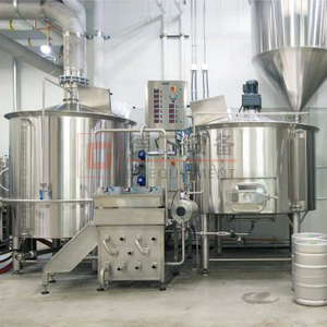 5BBL-10BBL 25% Head Space Customized Stainless Steel 3 Vessel Brewhouse Craft Beer Brewery Equipment With 100mm PU Insulation