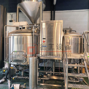 TUV Certificate 1500L Brew Kettle System Double Wall Stainless Steel 304/316 Turnkey for Sale