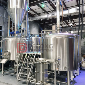 300L 500L Beer Brewery Equipment Restaurant 2-vessel Craft Brewhouse Conical Fermenter for Sale