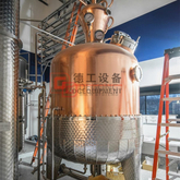 1000L Turnkey Red Copper Distiller Distilling Equipment for Vodka, Gin, Whisky, Brandy,Rum