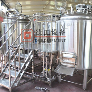 1000L 3-vessel craft stainless steel beer brewhouse applied on beer pub brewery