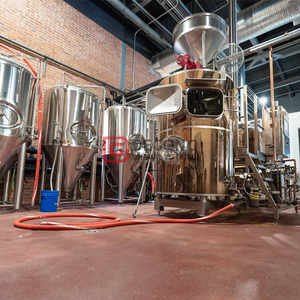 500L turnkey steam heated steel micro beer brewery system for sale
