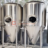 2000L Commercial Brewing System Setup Conical Dimple Jacket Stainless Steel 304 Beer Conical Cylinder Tank Unitank