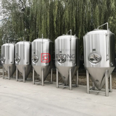 2000L Customizable Side Manhole Stainless Steel Conical Isobaric Pressure Fermentation Tank-Unitank