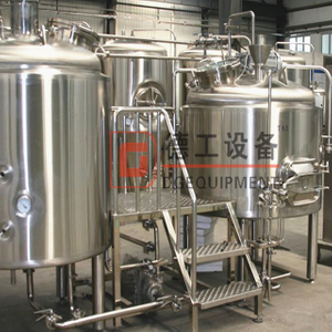 2-vessel brewhouse system electric and steam heat complete microbrewery equipment restaurant
