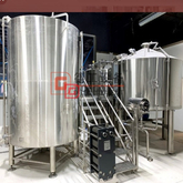PED Certificated 20HL Steam heating SUS304 beer brewing equipment for commercial using