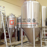 10BBL 15BBL 20BBL Cooling Jacket Fermenter Double Wall Dimple Fermentation System