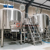 1500L Commercial Brewery 3-vessel Steam Heated Combined Beer Brewhouse for Beer Brewing System Used