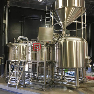 1000 Litre Complete Semi-automatic Stainless Steel / Copper Customzied Beer Brewing Tank for Commercial Used