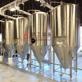 1000L Insulated Dimple Jacket Conical Stainless Steel Vertical Isobaric Beer Fermentation Tank And Brite Tank